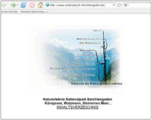 Abbildung der alten Internetseiten